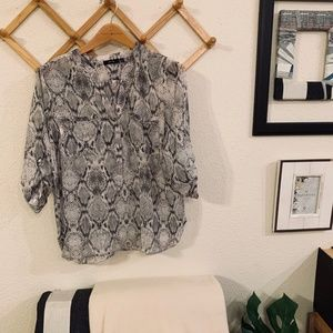 Snakeskin Patterned APT Blouse